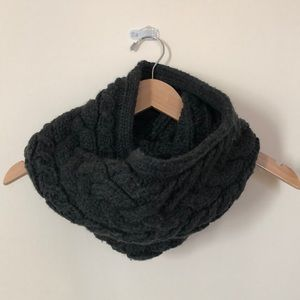 Cozy dark gray infinity scarf